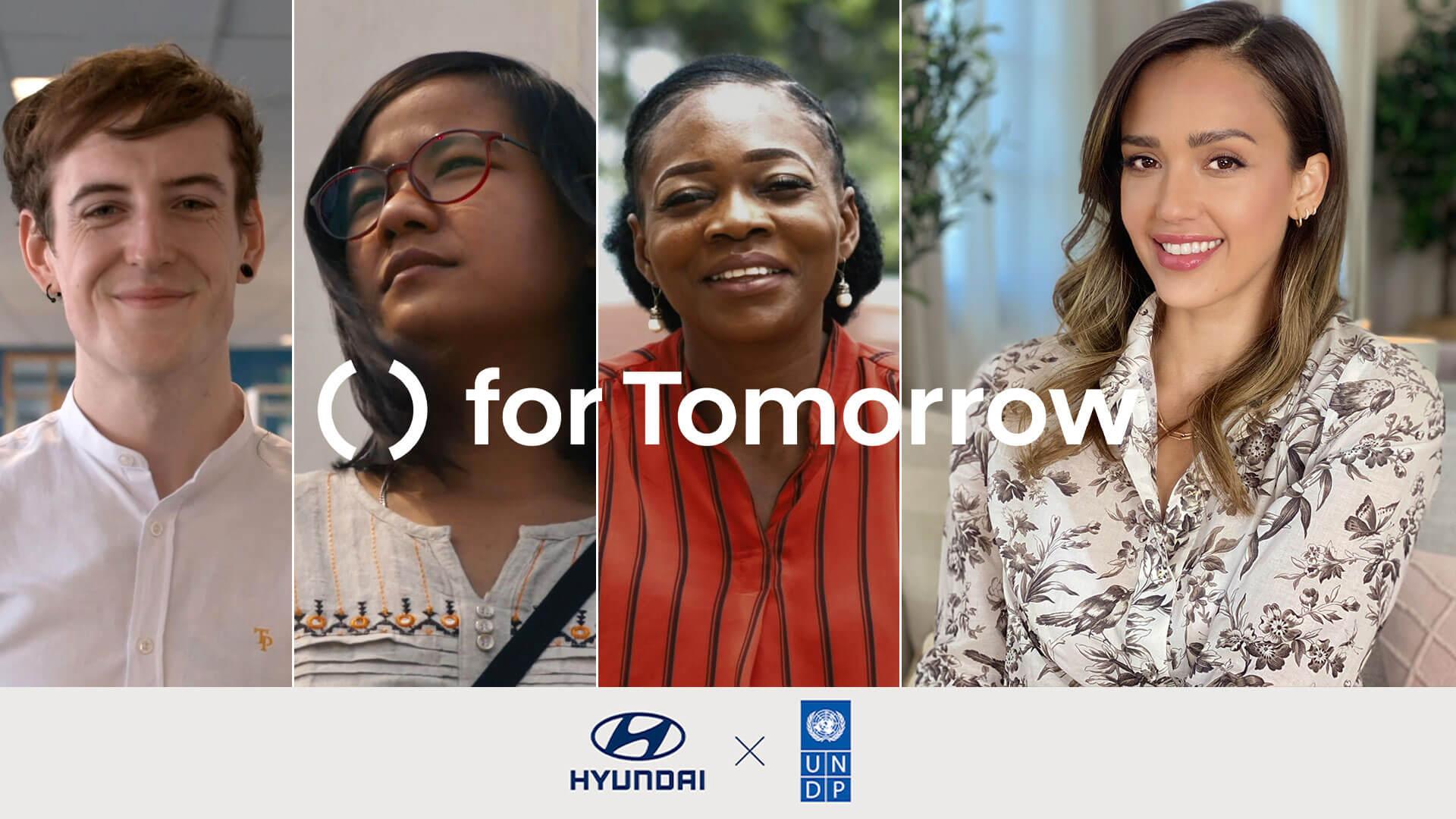 Hyundai for tomorrow images avec 4 personnes