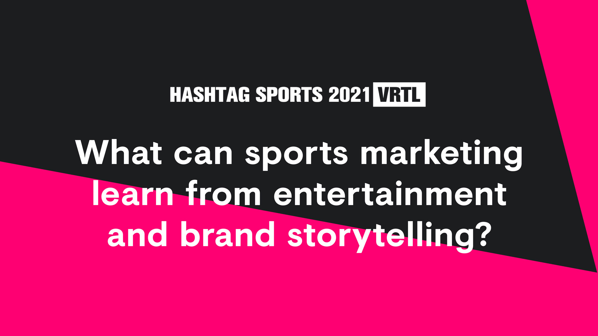 What can sports marketing learn from entertainment and brand storytelling?